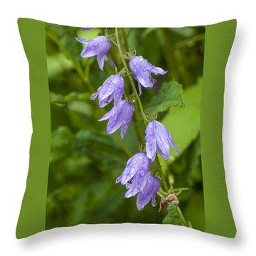 Purple Dew Drops Throw Pillow