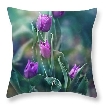 Purple Dignity Throw Pillow by Agnieszka Mlicka