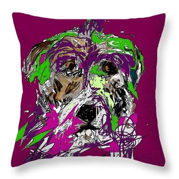 Purple Dog Throw Pillow