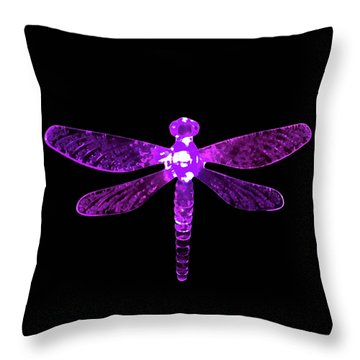 Purple Dragonfly Throw Pillow