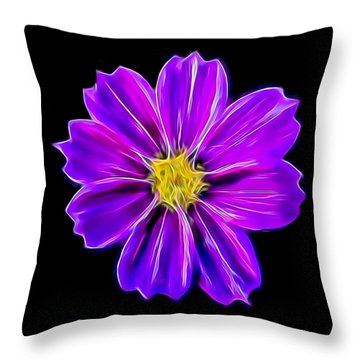 Purple Electric Throw Pillow