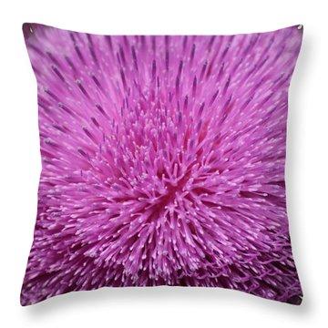 Purple Elegance Throw Pillow