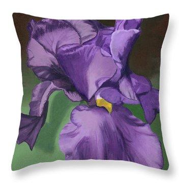 Purple Fantasy Throw Pillow by Lynne Reichhart