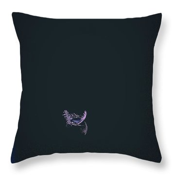 Purple Feather1 Throw Pillow by Timothy Latta