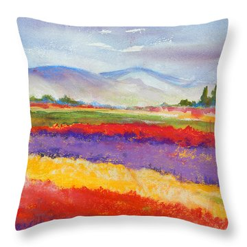 Purple Fields Throw Pillow