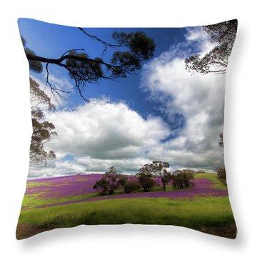 Throw Pillow featuring the photograph Purple Fields by Douglas Barnard