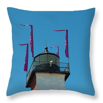 Purple Flags Throw Pillow