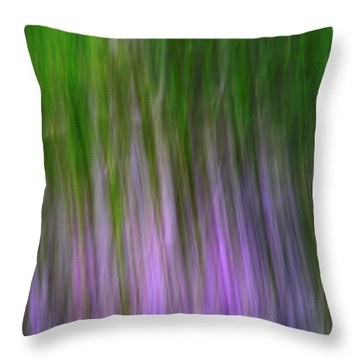 Purple Flames Throw Pillow
