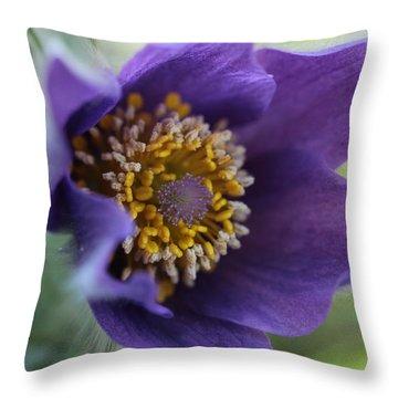 Purple Fleece Throw Pillow