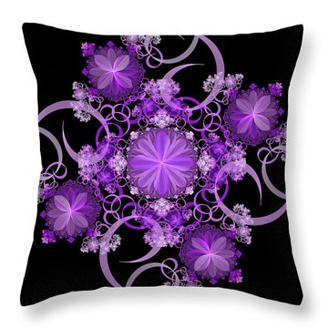 Throw Pillow featuring the photograph Purple Floral Celebration by Sandy Keeton