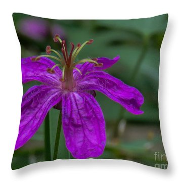 Purple Flower 5 Throw Pillow