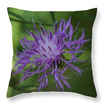 Purple Flower 8 Throw Pillow