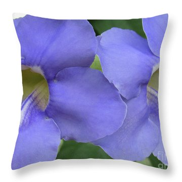 Purple Flower Picture Perfect Throw Pillow