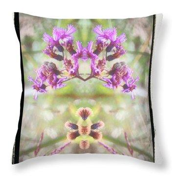 Purple Flower Split Throw Pillow