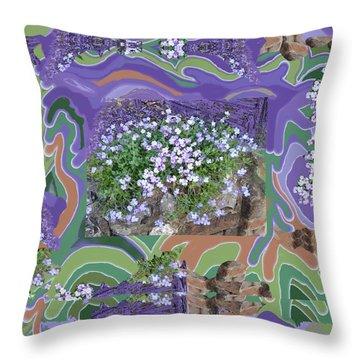 Purple Flower Textured Photo 1028d Throw Pillow