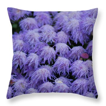Throw Pillow featuring the photograph Purple Flowers by Donna Bentley