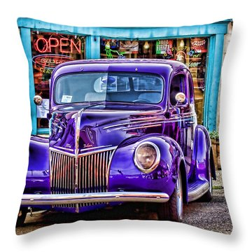 Purple Ford Deluxe Throw Pillow
