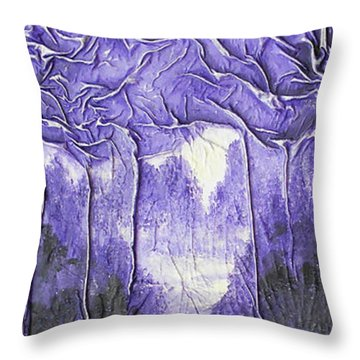 Purple Forest Throw Pillow
