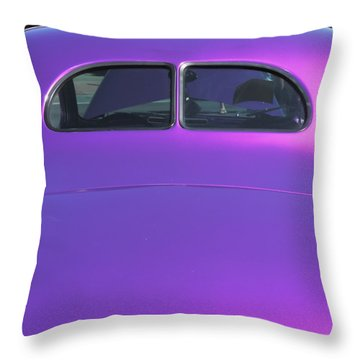 Purple Forty Throw Pillow