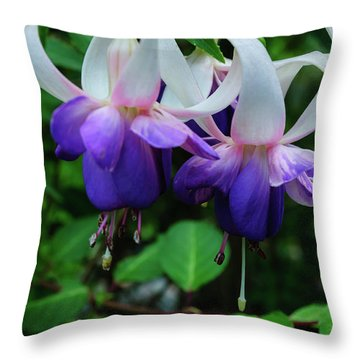Throw Pillow featuring the photograph Purple Fuschia by Tikvah's Hope