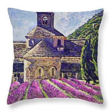 Purple Gardens Provence Throw Pillow