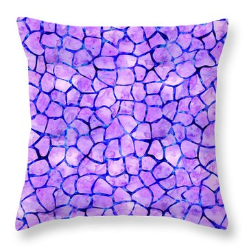 Purple Giraffe Print Throw Pillow