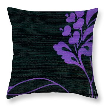 Purple Glamour On Black Weave Throw Pillow