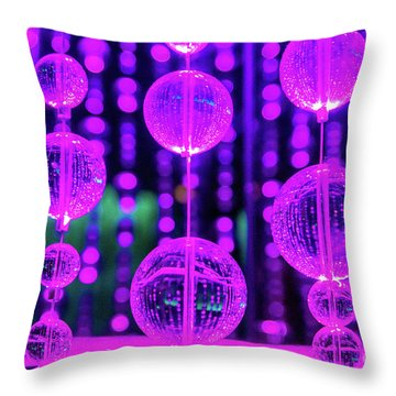 Purple Glass Throw Pillow