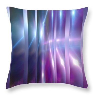 Purple Glaze Throw Pillow