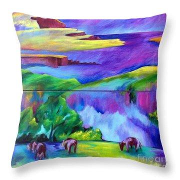 Purple Graze Throw Pillow