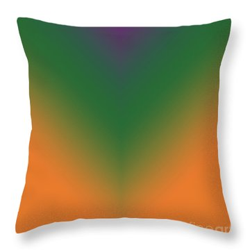 Purple, Green And Orange Throw Pillow