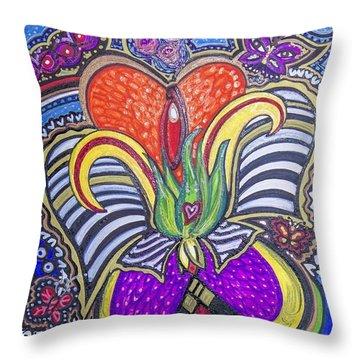 Purple Growth Throw Pillow