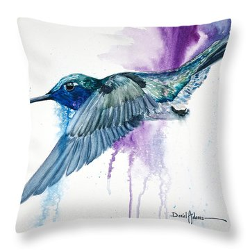 Da182 Purple Haze Daniel Adams Throw Pillow