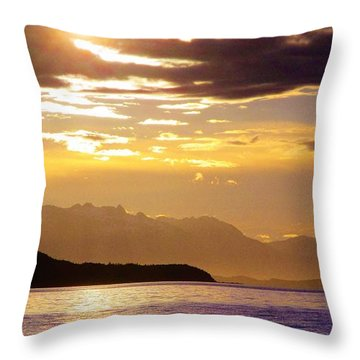 Orchid Sky Throw Pillow