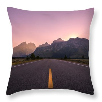 Purple Haze  Throw Pillow by Michael Ver Sprill