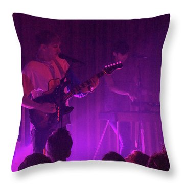 Purple Haze Throw Pillow by Robert Hebert