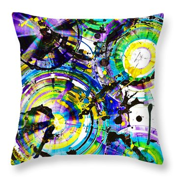 Purple Haze Spheres And Circles 1509.021413 Throw Pillow by Kris Haas