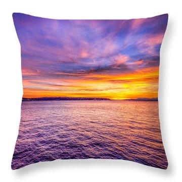 Purple Haze Sunset Throw Pillow by Spencer McDonald