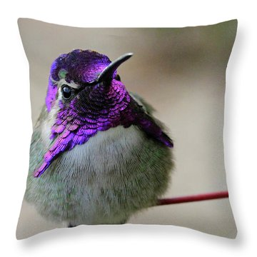 Purple Head Throw Pillow