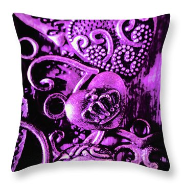 Purple Heart Collection Throw Pillow