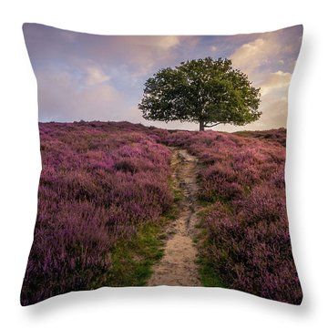 Purple Hill Throw Pillow