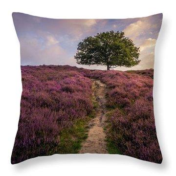 Purple Hill Throw Pillow