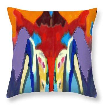 Purple Hoodies Throw Pillow