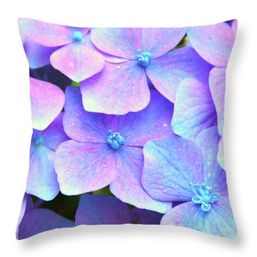 Purple Hydrangeas Throw Pillow