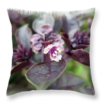 Throw Pillow featuring the photograph Purple In Autumn by Joan  Minchak