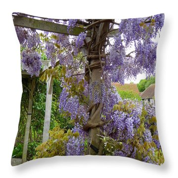 Purple In Priory Park Throw Pillow