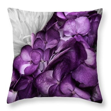 Purple In The White Throw Pillow