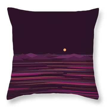 Purple Isle Throw Pillow by Val Arie