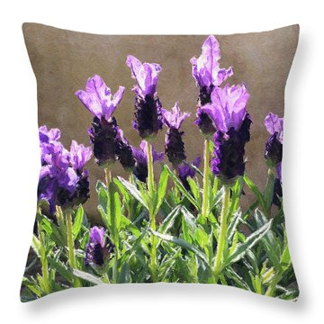 Throw Pillow featuring the digital art Purple by Julian Perry