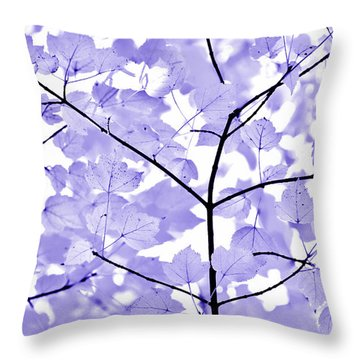Purple Lavender Leaves Melody Throw Pillow by Jennie Marie Schell